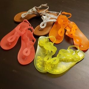 Lot of little girl's sandals